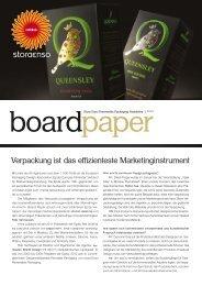 Verpackung ist das effizienteste Marketinginstrument - Stora Enso