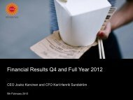 Financial Results Q4 and Full Year 2012 - Stora Enso