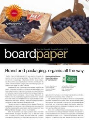 Brand and packaging: organic all the way - Stora Enso