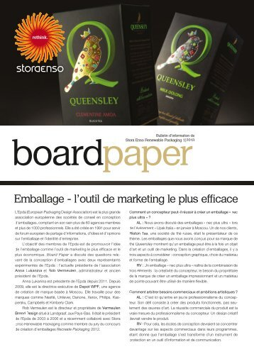 Emballage - l'outil de marketing le plus efficace - Stora Enso