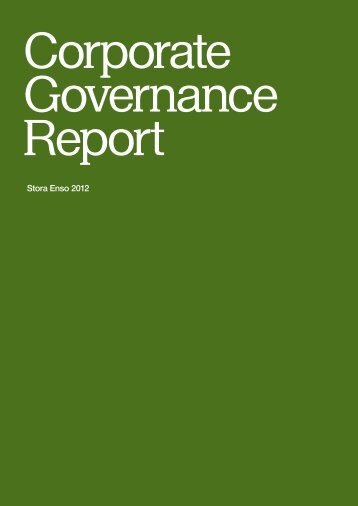 Stora Enso Corporate Governance Report 2012