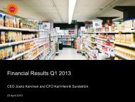 Financial Results Q1 2013 - Stora Enso