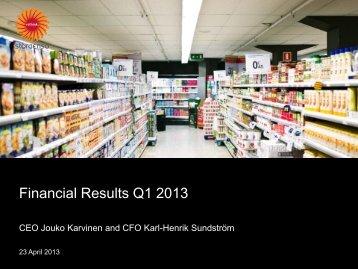 Financial Results Q1 2013 - Stora Enso