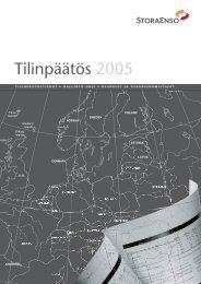 Tilinpäätös 2005 - Stora Enso