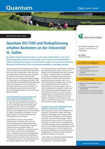 Quantum DXi7500 und Deduplizierung erhalten Bestnoten an der ...
