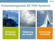 Entwicklungsziele SS 7000 Systeme - Storage Consortium