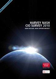 HARVEY NASH CIO SURVEY 2010 - Storage Consortium