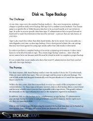 Disk vs. Tape Backup - Verity Group
