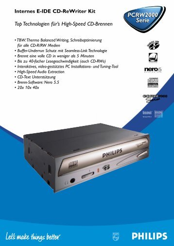 Produktinformationen - Philips StorageUpdates
