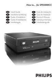How to handleiding - Philips StorageUpdates