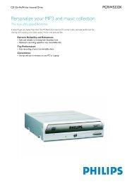 Product Information - Philips StorageUpdates