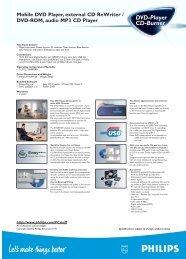 Mobile DVD Player, external CD ReWriter / DVD-ROM, audio MP3 ...