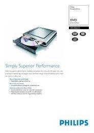 Simply Superior Performance - Philips StorageUpdates