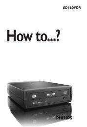 ED16DVDR - Philips StorageUpdates
