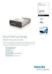 Leaflet (pdf) - Philips StorageUpdates