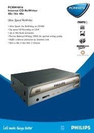 PCRW4816 - Philips StorageUpdates