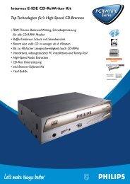 PCRW1610 Serie PCRW1610 Serie - Philips StorageUpdates
