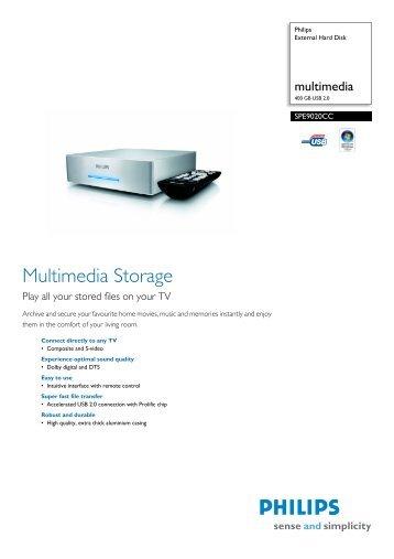 SPE9020CC/10 Philips External Hard Disk - Philips StorageUpdates