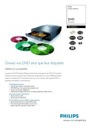Informations produit - Philips StorageUpdates