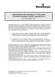 """""""U"""" della parete in Porotherm Modulare 30-25/25 ... - Storemat"""