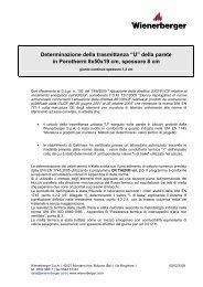 """U"" della parete in Porotherm 8x50x19 cm, spessore 8 cm - Storemat"