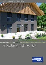 Innovation für mehr Komfort - Schenker Storen AG