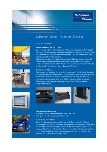 Newsletter 3 - Schenker Storen AG