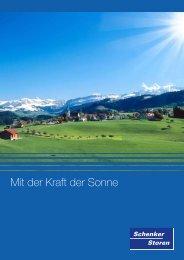 Mit der Kraft der Sonne - Schenker Storen AG