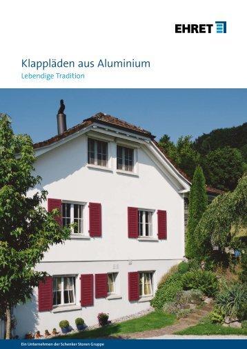 Klappläden aus Aluminium - Schenker Storen AG
