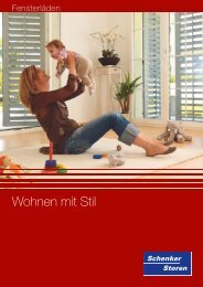 Wohnen mit Stil - Schenker Storen AG
