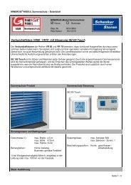 Datenblatt - Schenker Storen AG