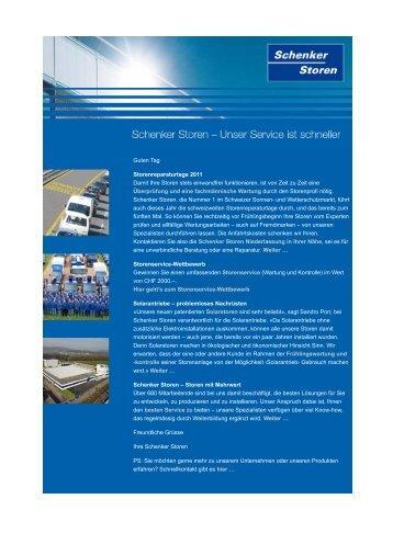 Newsletter 2 - Schenker Storen AG
