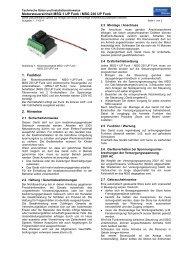 Handbuch MSG UP Funk - Schenker Storen AG