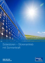 Solarstoren – Storenantrieb mit Sonnenkraft - Schenker Storen AG