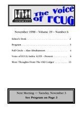 November 1998 - Fairfield County Computer User Group