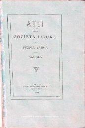 SOCIETÀ LIGURE W - Società Ligure di Storia Patria