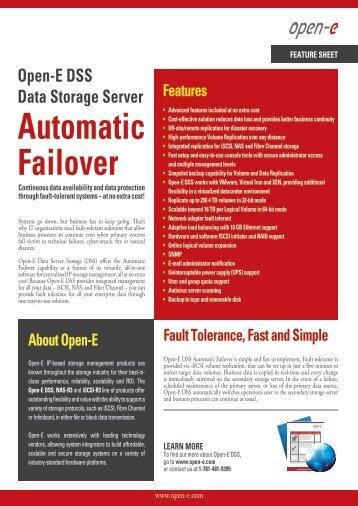 Open-E DSS Automatic Failover - EN