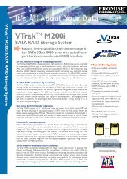 VTrakTM M200i SATA RAID Storage System - Stor IT Back