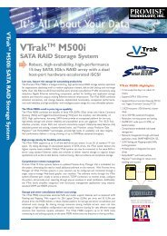 VTrakTM M500i SATA RAID Storage System - Stor IT Back