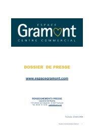 DOSSIER DE PRESSE - Espace Gramont