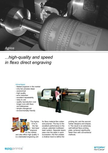 high-quality and speed in flexo direct engraving Agrios - Stork Prints