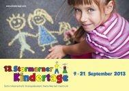 13. Stormarner Kindertage - Veranstaltungsprogramm