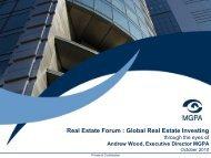 Real Estate Forum : Global Real Estate Investing