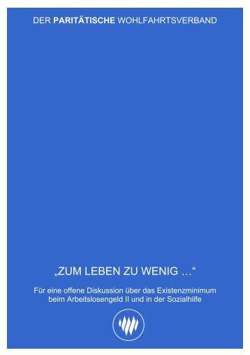 """""""ZUM LEBEN ZU WENIG …"""" - Der Paritätische Wohlfahrtsverband"""