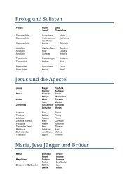 Prolog und Solisten - Entschieden für Oberammergau