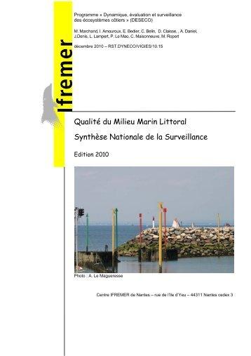 Qualité du Milieu Marin Littoral - Synthèse ... - Archimer - Ifremer