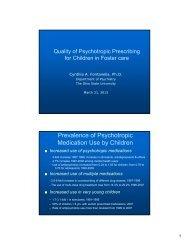 Prevalence of Psychotropic Medication Use by Children