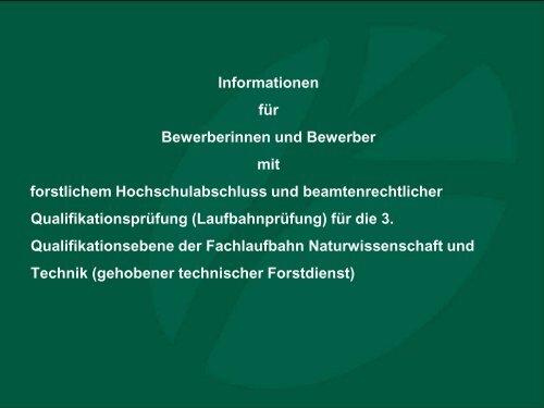 Informationen für Bewerber/Innen der 3 ... - Bayerische Staatsforsten