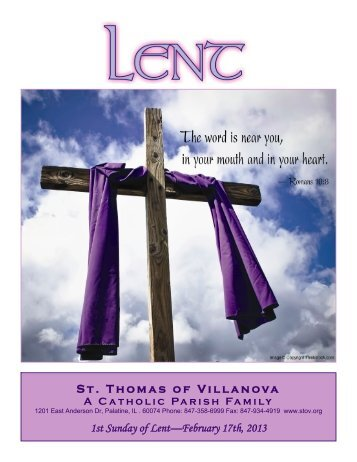 St. Thomas of Villanova 1st Sunday of Lent—February 17th, 2013