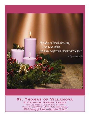Parish Events - St. Thomas of Villanova